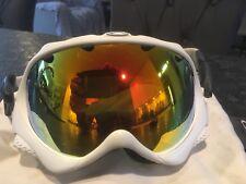 Oakley Wisdom Ski Snowboard Goggles white fire lens