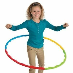 Hula Hoop Adjustable Slot Together 66cm Dia Childrens Kids Adult Sport Aerobics