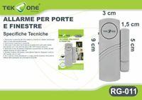 Allarme Sensore Magnetico TeKone RG-011 Antifurto Acustico Porte Finestre hsb
