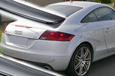 AUDI TT Aileron Becquet Alettone Trunk Wing Spoiler Flap PAINTED BLACK S-Line