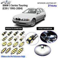 21 Bulbs White LED Interior Dome Light Kit For 1995-2004 E39 BMW 5 Series Wagon
