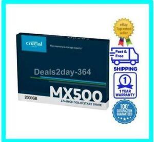 "NEW Crucial SSD(CT2000MX500SSD1) 2TB MX500 SATA 6Gb/s 2.5""7mm 3DNAND SAMEDAYSHIP"