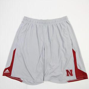 Nebraska Cornhuskers adidas Climalite Athletic Shorts Men's Gray Used