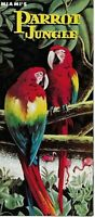 1950s Parrot Jungle Brochure Miami Florida Famous Attraction Colorful Vintage