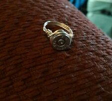 WIRE WRAPPED RING WITH A 9 MM BULLET CASING CARTRIDGE handmade bullet jeweley
