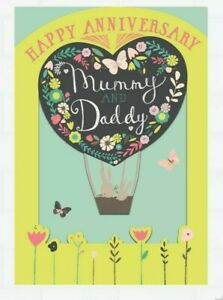 Hallmark Happy Anniversary Card  Mummy and Daddy