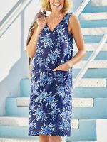 BNWT NEW JULIPA NAVY V NECK LINEN BLEND POCKET SHIFT DRESS PLUS SIZE 18