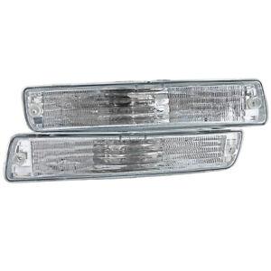 Toyota Landcruiser 80 Series Clear Crystal Front Indicators Bumper Lights FJ80