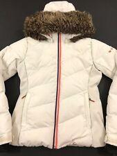 Roxy Snowstorm Womens Snowboard Ski Down Jacket Ladies Winter Coat Fur S RRP£310