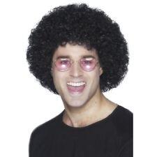 adulti ANNI 70 moda Disco Dude NERO ECONOMICA ricci parrucca afro