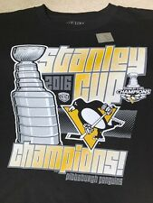 NEW Pittsburgh Penguins 2016 Stanley Cup Champions Youth Medium Black T-shirt