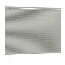 SPEEDY 25MM SLAT PVC GREY VENETIAN FIXED BLIND KIT & CHILD SAFE 160/ 200 CM DROP