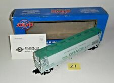 Atlas ACF 3 Bay Cylindrical Hopper WR GRACE CO O Scale ACFX 62014 Freight Car 21