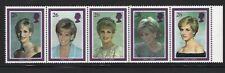 Great Britain 1998 Mnh Sc=1785-1790a Strip of 5 Princess Diana