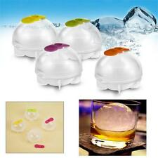 ICE Balls Maker Round Sphere Tray Mold Cube Whiskey Ball Cocktails Silicone 4Pcs