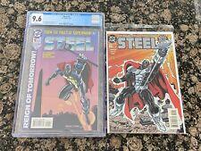 DC Comics Steel #1 CGC 9.6 Plus Steel #0 High Grade NM
