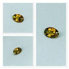 Tri Colour Natural Tourmaline Gemstone Orange Green & Yellow Oval Cut