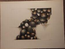 NEDELEC Michele - Lithographie signée numérotée les cailloux boum Bretagne