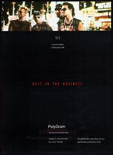 U2 - Live From Sydney_Original 1993 Trade Print Ad / music promo / poster_Bono