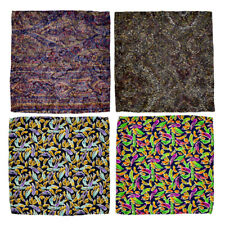 Lot of 4 Men's SANTOSTEFANO 100% Silk Pocket Square Handkerchief