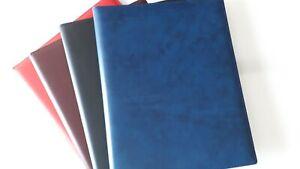 Urkundenmappe aus Kunstleder rot bordeaux schwarz blau mit Einsteckfach A 4