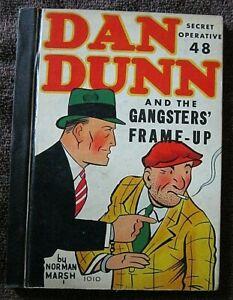 DAN DUNN Secret Operative 48 & The Gangsters' Frame-Up-1937 Comic Bk HC-N Marsh
