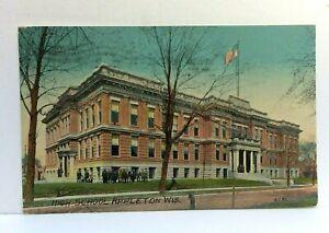 C. 1912 Appleton Wisconsin High School Vintage Postcard