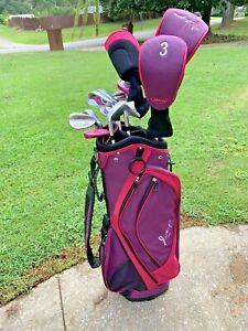 Wilson Hope Breast Cancer Women's Golf 13 Club Set Woods, Putter Bag Odyssey SCX