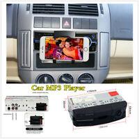 1 Din Car FM Bluetooth Stereo Radio Audio MP3 Player Head Unit w/Phone Holder