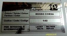 Fiat uno turbo adesivo colore ppg rosso corsa 140