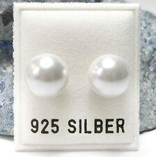 NEU 925 Silber OHRSTECKER mit 10mm PERLEN in weiß OHRRINGE Perle PERLENOHRRINGE
