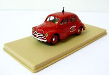 Eligor (France) Renault 4 CV Fire Dept. Diecast Car Model 1:43 Scale Used