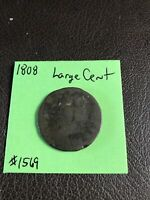 1808 Classic Head Large Cent Penny - Circulated Condition - 81SU