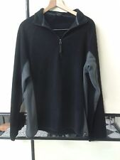 Trek Mates Men Black 1/3 Zip Fleece Size L