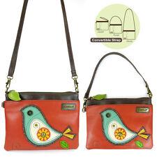 Chala Handbags-Orange Bird Mini Crossbody Phone Purse