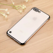 Electroplate Thin Clear Frameless Hard Case Cover For iPhone 11 Pro MAX XS XR 8