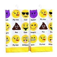 Novelty Cute EMOJI Icon Tea Towel Ideal Gift 60cm x 38cm