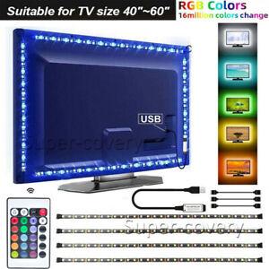 LED Strip Lights USB TV Backlight RGB 5050 Lighting Strips + Remote Control UK