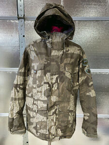 Burton Snowboard Jacket - Ronin - Womens M - Camouflage - Ski Jacket Winter Snow