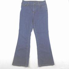 L.L. Bean Womens Jeans Pants Classic Fit Cotton Blend Blue 12 Reg Boot Cut