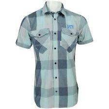 Camicie casual e maglie da uomo blu con Fantasia Scacchi, quadretti taglia M