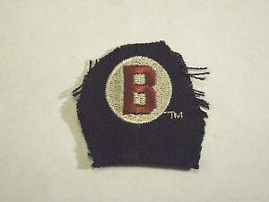"Retro Baltimore Black Sox ""B""  Negro Baseball Sew On Patch-"