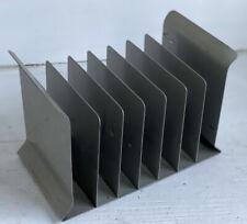 Vintage Retro Industrial Small Desktop File Organizer Galvanized Metal 7 Slots