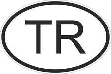 Adesivo adesivi sticker codice auto moto ritagliato nazioni ovale TURCHIA