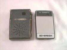 Rare 1960s Sovereign Am transistor radio with civil defense marks made Japan