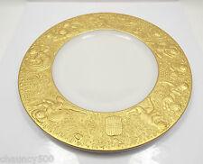 "Rosenthal Bjorn Wiinblad Magic Flute Gold Sarastro Salad or Dessert Plate 8 5/8"""