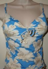 VICTORIA'S SECRET Swim Tankini Top 32C BLUE/WHITE FLORAL NEW Swim/Beach/Pool