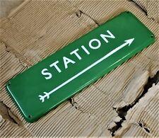 BR STATION enamel sign British rail train southern arrow sign railway VAC243