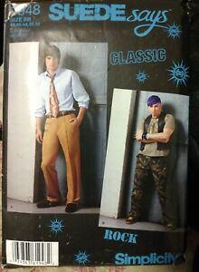 Simplicity 1948 Sizes 44-52 Sewing Pattern Men's Jeans With Pocket Variations