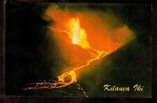 1959 Kilauea Iki Volcano molten lava eruption Big Island Hawaii postcard